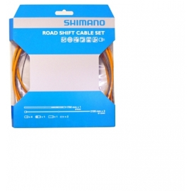 cable (set) cambio p/ruta shimano orange 1.2 x 2100mm