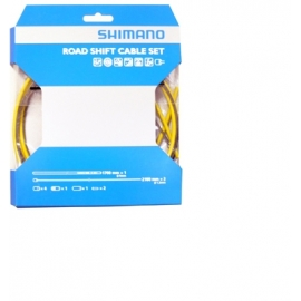 cable (set) cambio p/ruta shimano yellow 1.2 x 2100mm