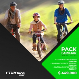 PACK FAMILIAR SILVERBACK (3 BICICLETAS)