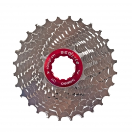 PI͑ON SEQLITE ULTRA LIGHT 12 /28 T 11 VEL. FULL  AL. 7075 AL ROAD CASSETTE  S11-1228 (120G)