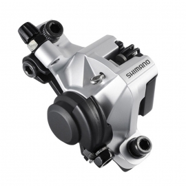 CALIPER TRAS. MECANICO SHIMANO BR-M375 SILVER W/ADAPTER FOR STANDARD (RING), RESIN PAD, W/O ROTOR, S